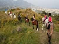 Horse riding tour beginners plus class in Mijas