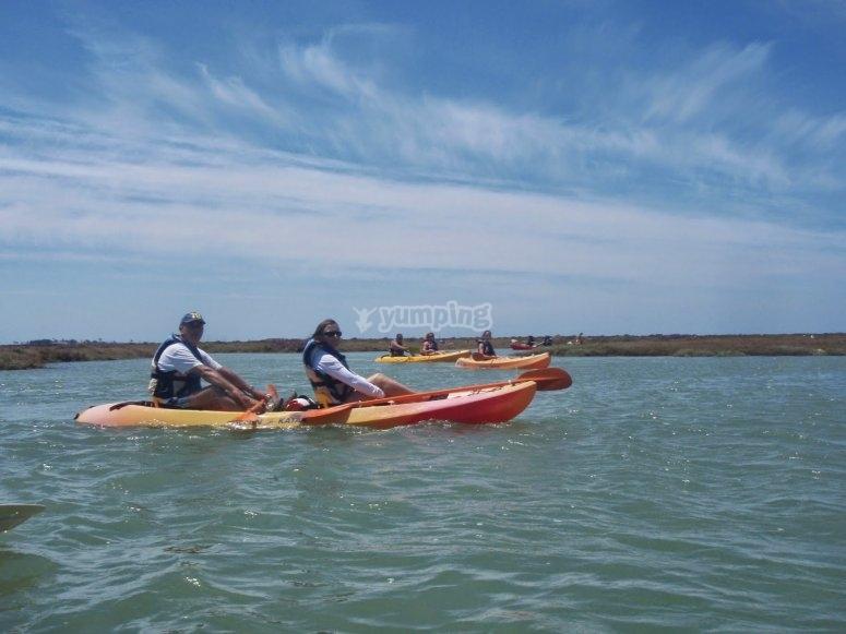 Alquiler de kayaks en Sancti Petri