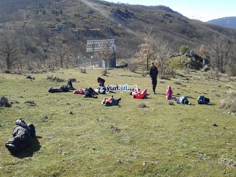 Ejercicios de relax en la montaña
