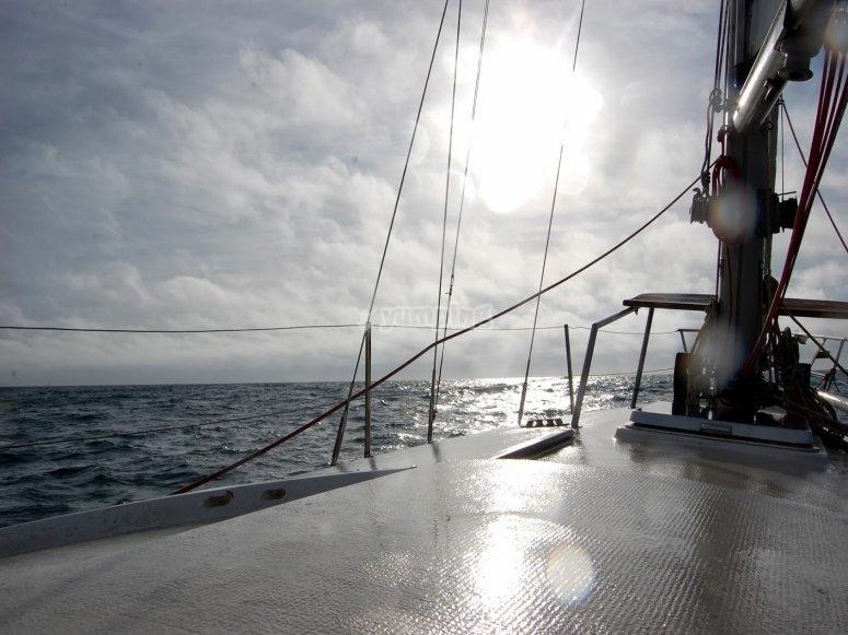 Baic帆船在Sancti Petri