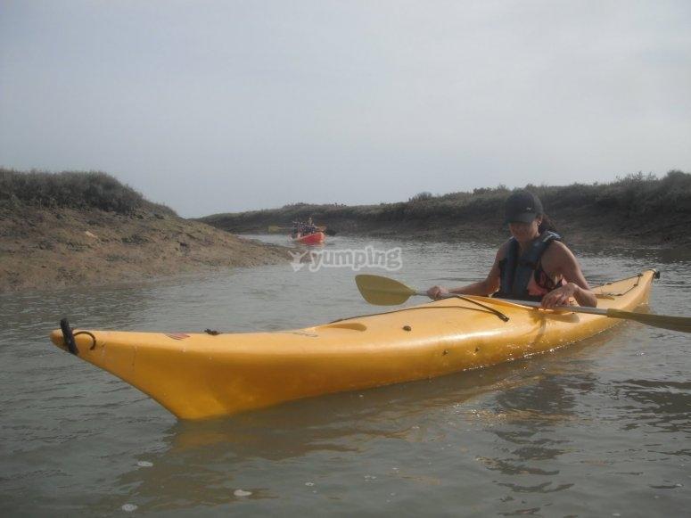 Kayaks para curso de iniciación