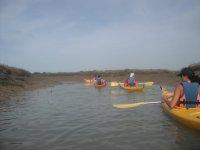 Ruta al Castillo y marismas en curso de kayak