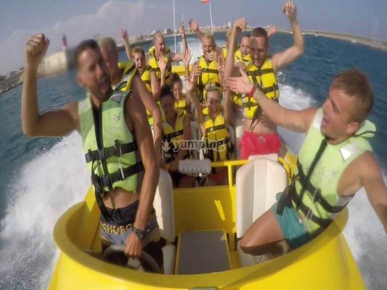 Stag do on the Jet Boat