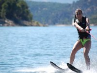 Water skiing in San Juan reservoir