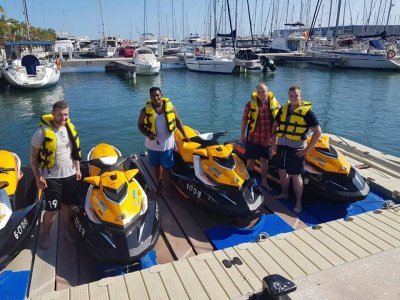 Jet ski 30 min and parasailing in Santa Pola
