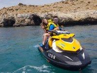 Moto de agua y parascending parejas Santa Pola 45m
