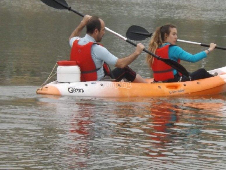 aventura acuatica en familia