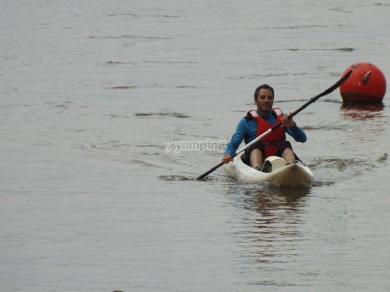 Ria del pas en canoa