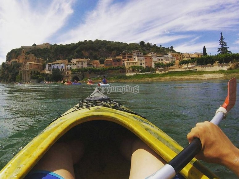 Canoeing in the Ebro