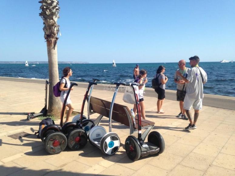 Segway ride along the coast Mallorca
