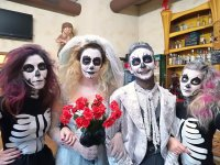 Disfrazados de Halloween en Jerez