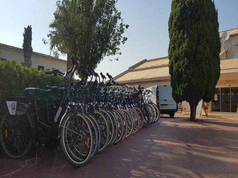 Flota de bicicletas en alquiler