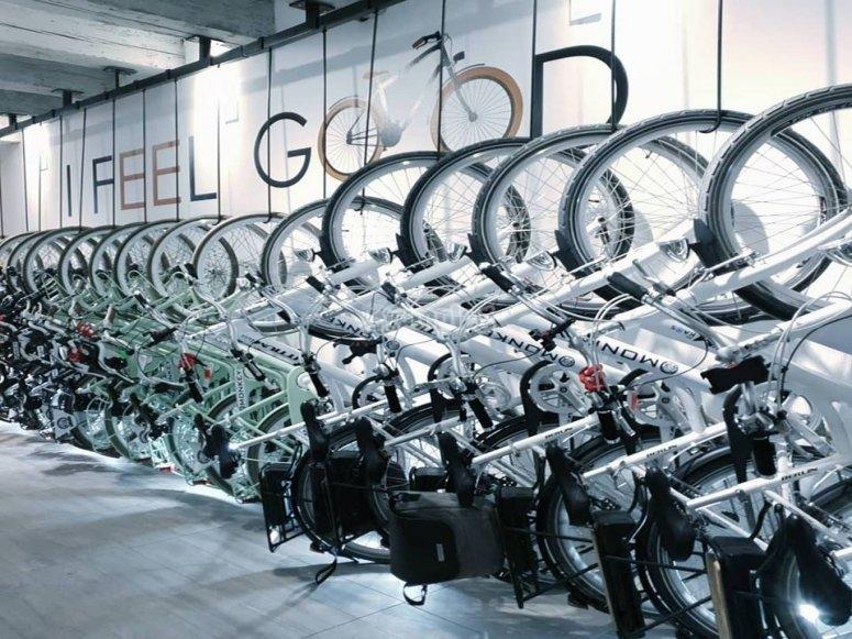 Bicicletas en tienda de alquiler Alicante