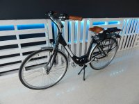 Black electric bike rental