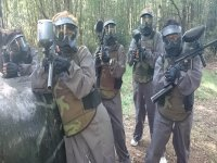 En el campo de paintball