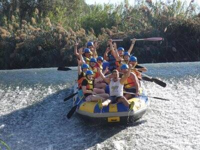 Rafting down the Segura river with paella 4 hours