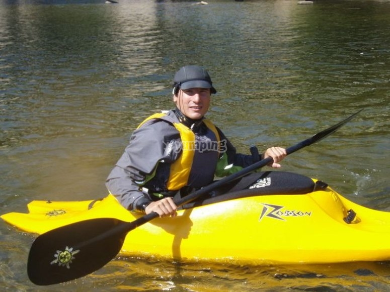 Individual kayak for the river descent