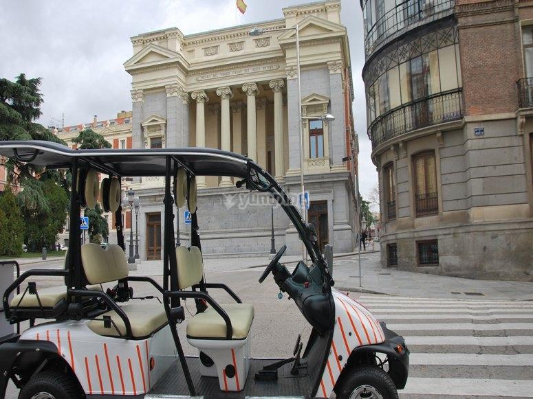 Paseo en buggy por Madrid