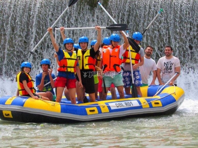 Grupo sobre la barca
