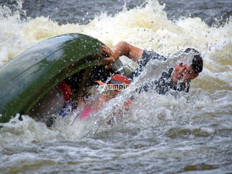 Rolled kayak