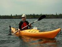 Navigating on the kayak
