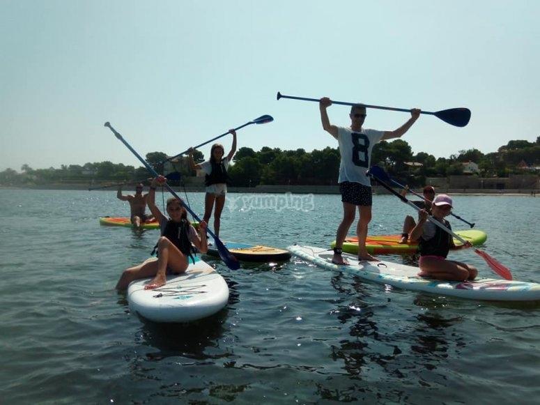 Campamento urbano inglés y paddle surf