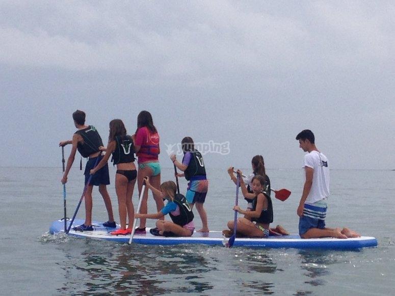 Clases de Paddle surf en inglés