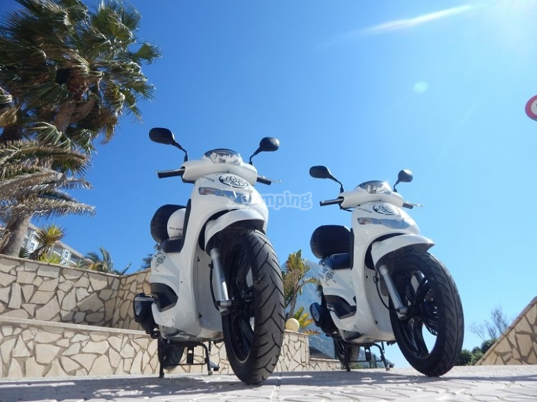 Alquiler scooter 125 cc Calpe