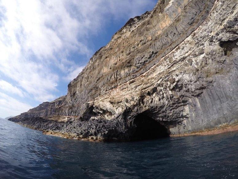 Una de las cuevas