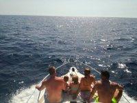 La familia en el barco
