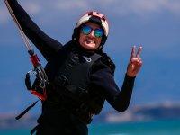Alumna en la clase de kite