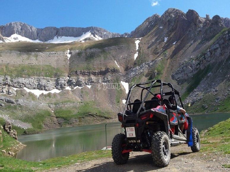 Vistas de las montañas en Huesca