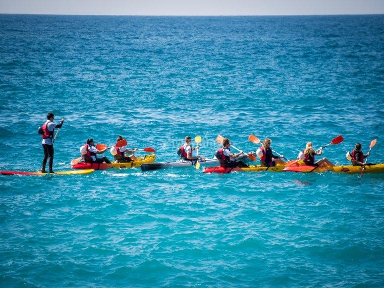 Salida en kayak por Mediterráneo