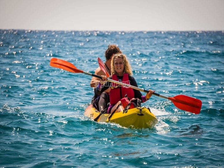 Travesía Kayak nivel fácil medio