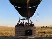 Getting the balloon ready to fly