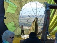 Flight on hot air balloon