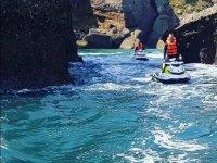 Costa de Gijon en moto de agua