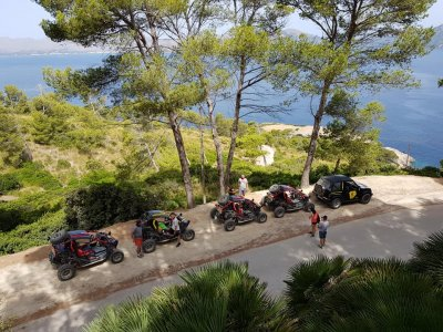 Tandem buggy route north of Mallorca 4 hours