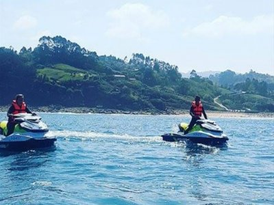 Two-seater jet ski tour in Gijón's coast 1 hour