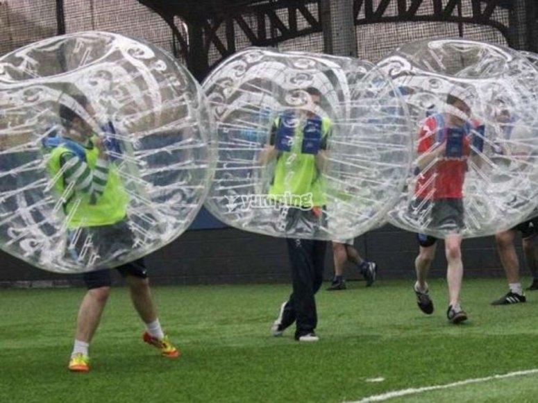 Giocatori nelle bolle