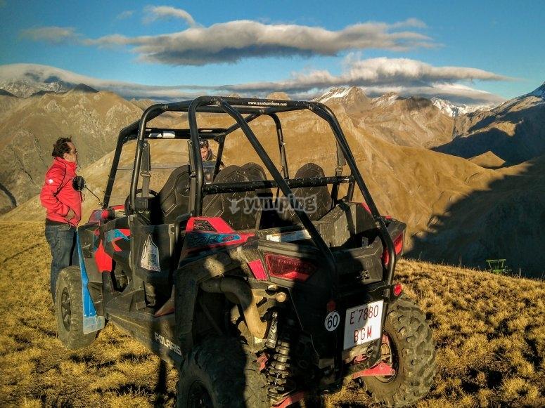 Paseo en buggy entre montañas Huesca