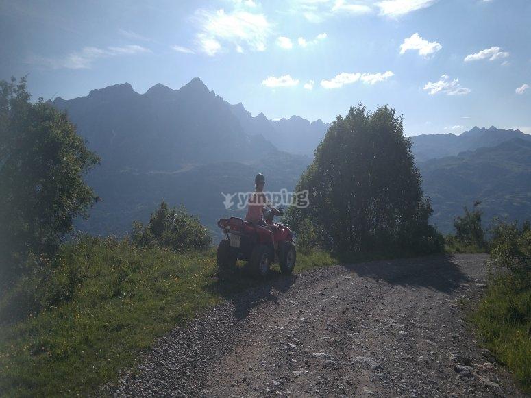 Caminos de tierra en quad