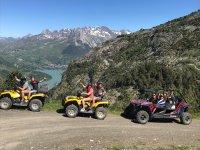 Vistas desde ruta con quad