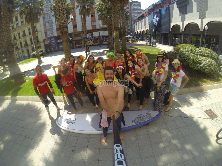 Navigazione paddle party per scapoli