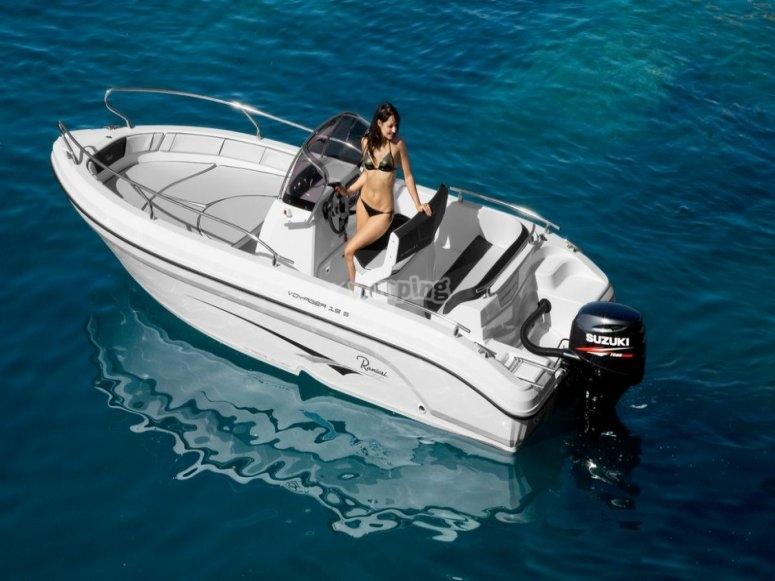 Alquiler embarcación con licencia