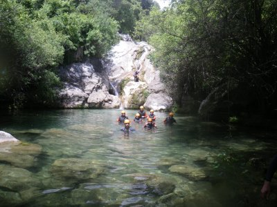 Canyoning in Majales low level sierra Ronda 3h