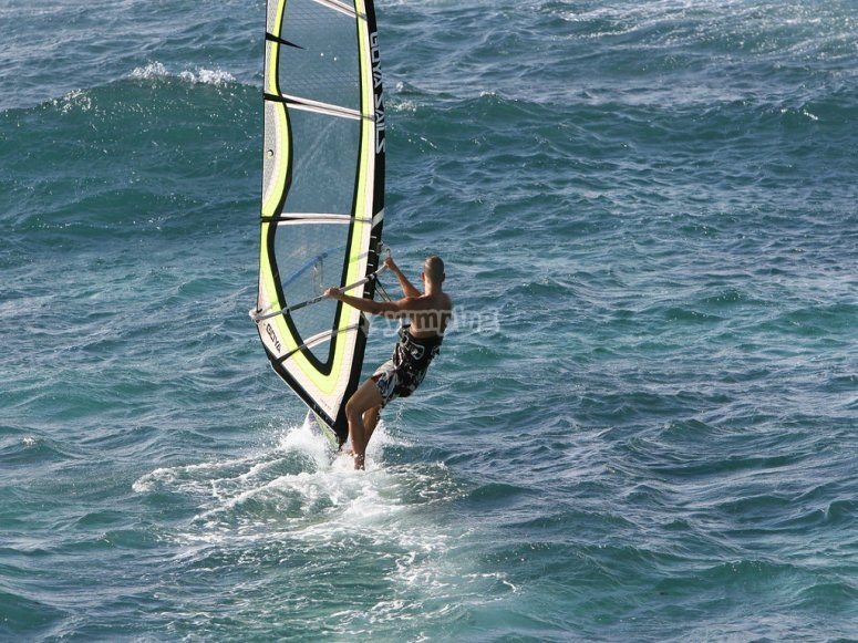 Windsurfing in Málaga