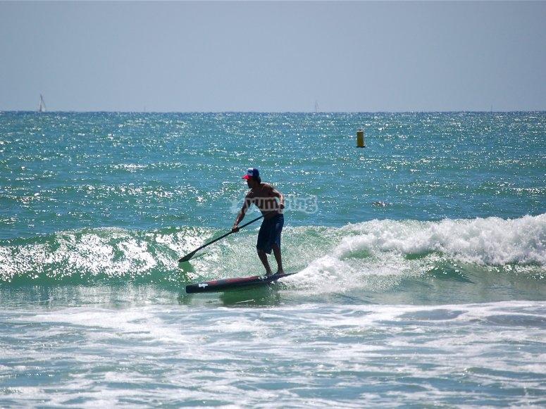 Remando con Paddle Surf Marbella