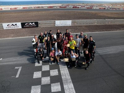团队建设摩托车电路马斯帕洛马斯和特内里费岛