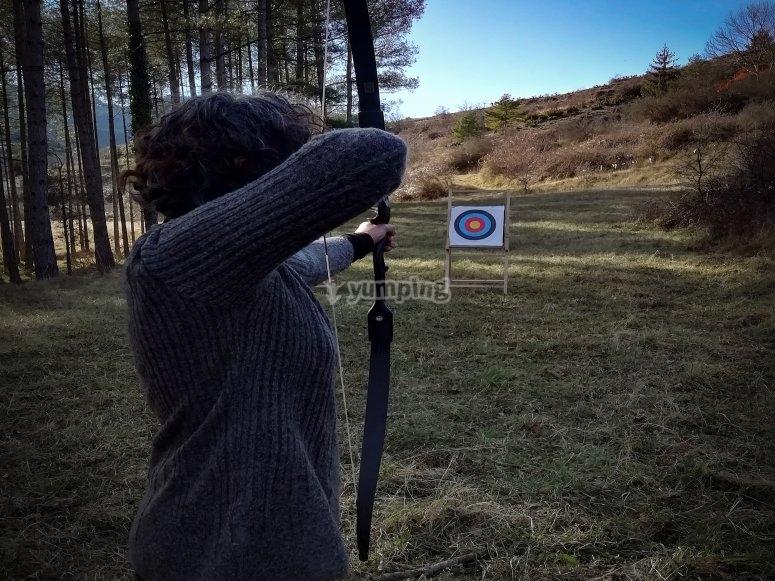 Actividad de tiro con arco en Cerdanya